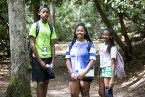 Young teens hiking at Ridgecrest
